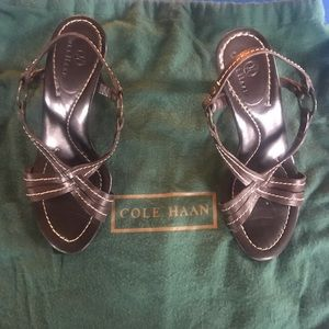 Cole Haan Brown leather strap sandals Sz 5.5